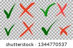 hand written do and dont check... | Shutterstock .eps vector #1344770537