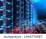 3d illustration of server...   Shutterstock . vector #1344774587