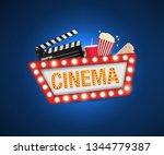 cinema poster design template.... | Shutterstock .eps vector #1344779387