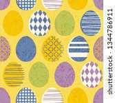 abstract seamless retro easter... | Shutterstock .eps vector #1344786911