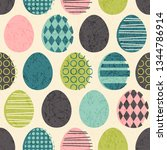abstract seamless retro easter... | Shutterstock .eps vector #1344786914