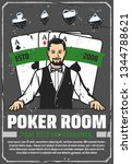 poker room  casino croupier and ... | Shutterstock .eps vector #1344788621