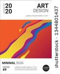 creative minimal book design... | Shutterstock .eps vector #1344801437