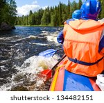 Rafters In A Rafting Boat On...