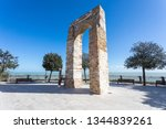 the tower of numana sirolo ... | Shutterstock . vector #1344839261