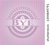bye badge with pink background | Shutterstock .eps vector #1344849791