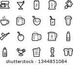 bold stroke vector icon set  ... | Shutterstock .eps vector #1344851084