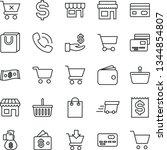 thin line vector icon set  ... | Shutterstock .eps vector #1344854807