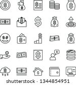 thin line vector icon set  ... | Shutterstock .eps vector #1344854951