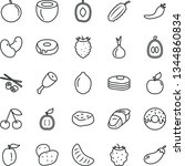 thin line vector icon set  ... | Shutterstock .eps vector #1344860834