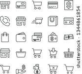 thin line vector icon set  ... | Shutterstock .eps vector #1344861854