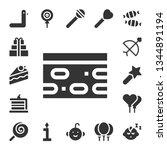 birthday icon set. 17 filled... | Shutterstock .eps vector #1344891194