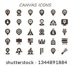 canvas icon set. 30 filled...