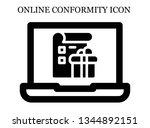 online list icon. editable...