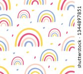 seamless vector pattern with... | Shutterstock .eps vector #1344897851