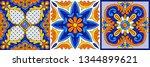 mexican talavera ceramic tile... | Shutterstock .eps vector #1344899621