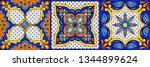mexican talavera ceramic tile... | Shutterstock .eps vector #1344899624