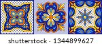 mexican talavera ceramic tile...   Shutterstock .eps vector #1344899627