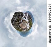 mountain waterfall stream in... | Shutterstock . vector #1344932624