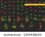christmas lights  isolated... | Shutterstock .eps vector #1344938654