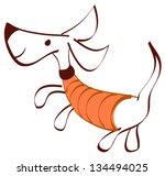 vector illustration of a funny... | Shutterstock .eps vector #134494025