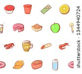 food images. background for... | Shutterstock .eps vector #1344940724