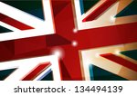 british flag abstract... | Shutterstock .eps vector #134494139