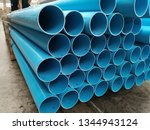 blue pvc  pipes  for drinking... | Shutterstock . vector #1344943124