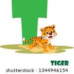 cute animal zoo alphabet.... | Shutterstock .eps vector #1344946154