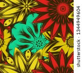 seamless floral background.... | Shutterstock .eps vector #1344949604