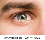 close up of a man eyes | Shutterstock . vector #134495021