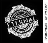 eternal chalkboard emblem   Shutterstock .eps vector #1344951554