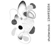 hand drawn abstract composition ... | Shutterstock . vector #1344953054