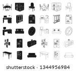 furniture and interior black... | Shutterstock .eps vector #1344956984