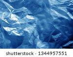 crumpled transparent plastic ... | Shutterstock . vector #1344957551