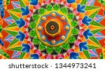 painted wooden wheel from a... | Shutterstock . vector #1344973241