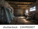 Old Barn Interior In The...