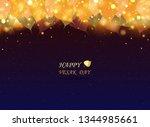 abstract vesak day festival for ... | Shutterstock .eps vector #1344985661