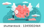positive thinking vector... | Shutterstock .eps vector #1345002464
