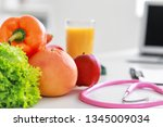 healthy products and... | Shutterstock . vector #1345009034