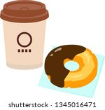 take away cup of drink and... | Shutterstock .eps vector #1345016471