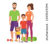 sport lifestyle healthy young... | Shutterstock .eps vector #1345019294