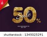 shine golden sale 50  off  made ... | Shutterstock .eps vector #1345025291