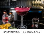 alcoholic cocktail desire at... | Shutterstock . vector #1345025717