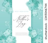 happy mothers day holiday... | Shutterstock .eps vector #1345046744