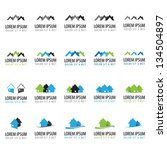 Stock vector house icons set isolated on white background vector illustration graphic design editable for 134504897