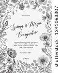 spring magic. invitation.... | Shutterstock .eps vector #1345063307