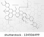 abstract images of molecular... | Shutterstock .eps vector #134506499