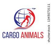 cargo animals logo | Shutterstock .eps vector #1345073111
