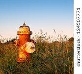 Rusty Fire Hydrant In Field  An ...